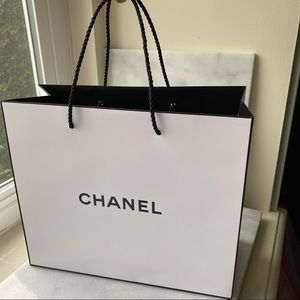 Chanel Authentic Large paper shopping bag